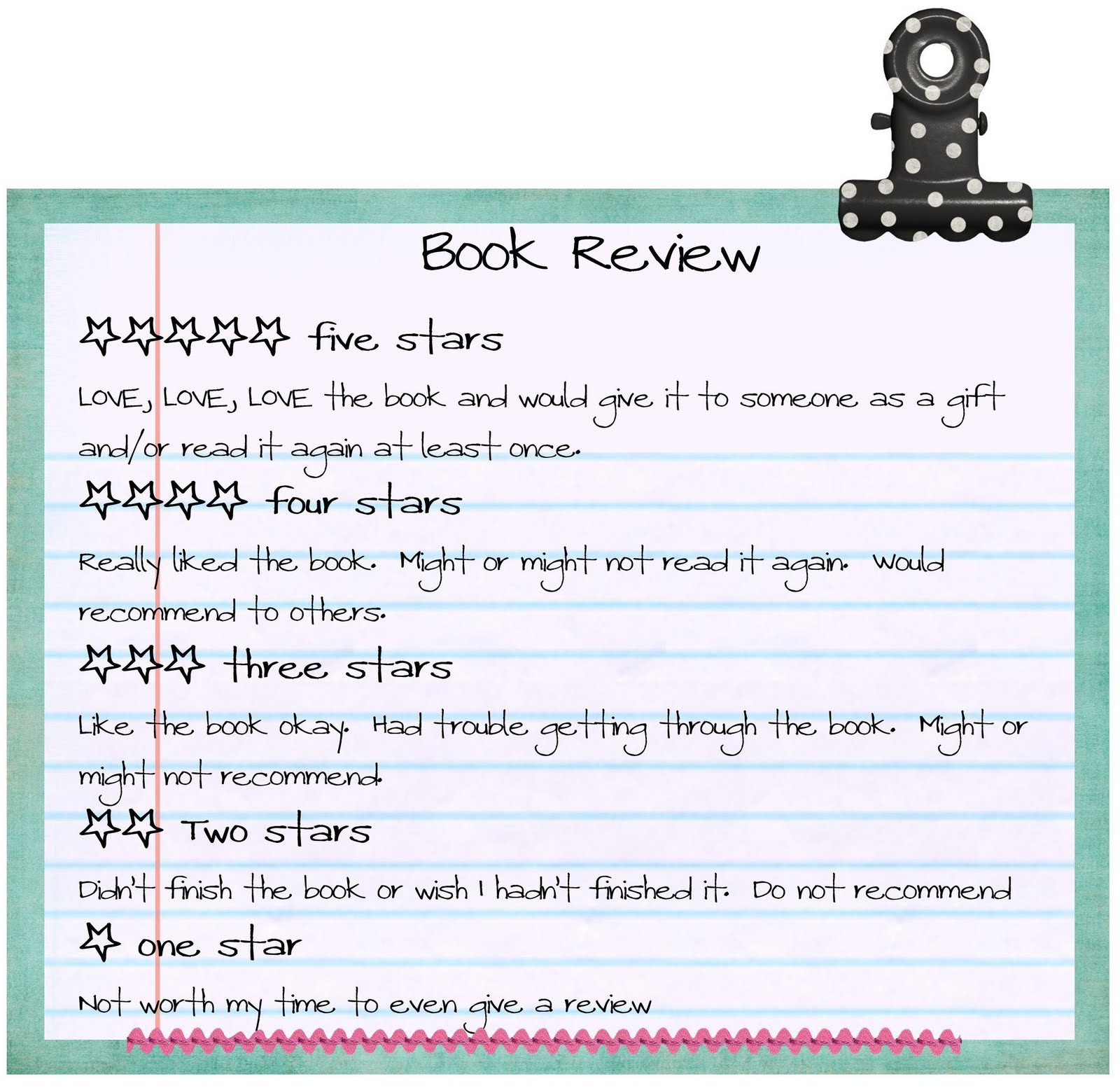 to write a book review