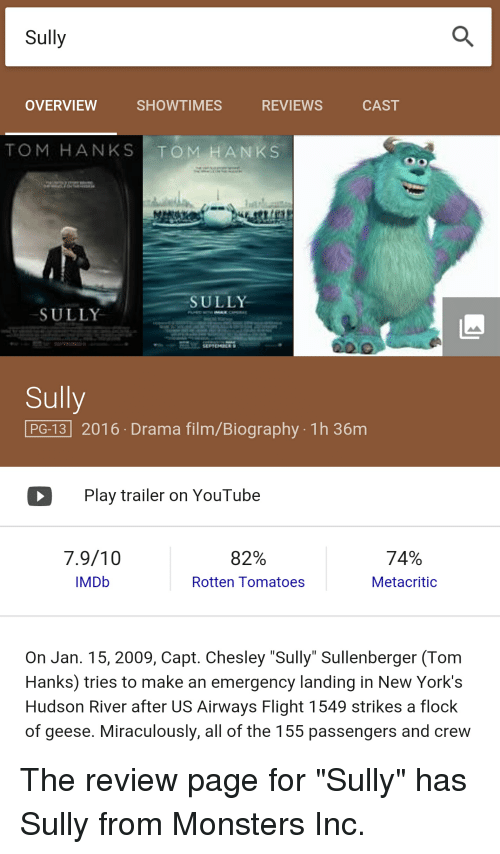 sully movie review rotten tomatoes